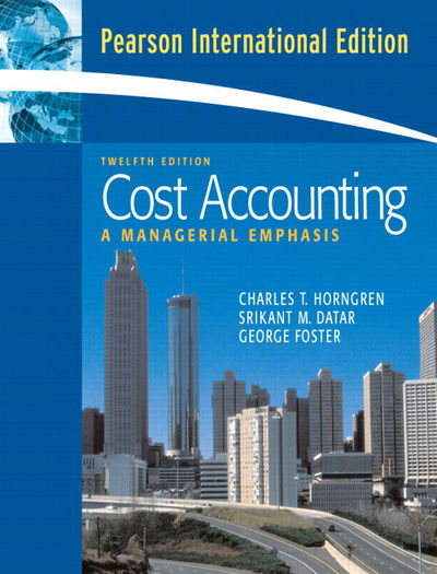cost accounting chapter 17 solutions
