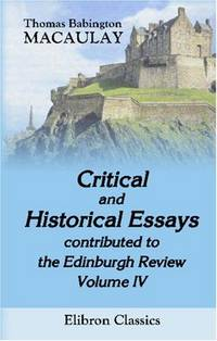 macaulay critical and historical essays
