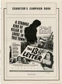 The 13th [Thirteenth] Letter (Original Film Pressbook)