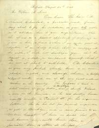 Two-and-a-half page autograph letter signed, being a letter of introduction for Nehemiah Cleaveland, to his cousin, the Rev. William B. Lewis