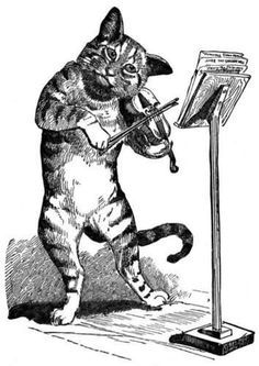 logo: The Peculiar Old Cat and Fiddle Bookshop