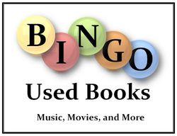 Bingo Used Books bookstore logo