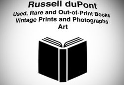 logo: Russell duPont, Books, Prints, Ephemera & Art