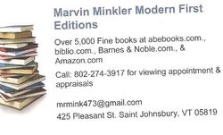 Marvin Minkler Modern First Editions bookstore logo