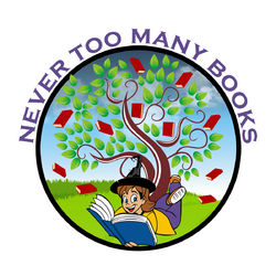 Never Too Many Books bookstore logo