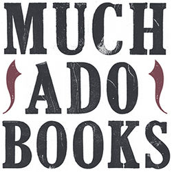 Much Ado Books bookstore logo