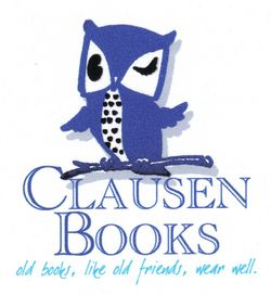 Clausen Books, RMABA bookstore logo