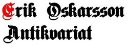 Erik Oskarsson Antikvariat logo