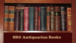 SRG Antiquarian Books bookstore logo