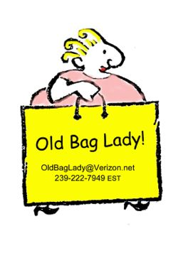 Old Bag Lady Books  bookstore logo