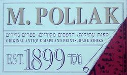 logo: M.Pollak Antiquariat - Est.1899