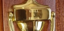 Quill & Brush bookstore logo