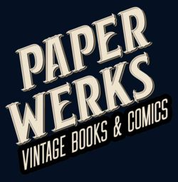 Paper Werks Vintage Books and Comics logo