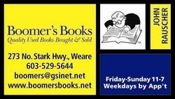 Boomer's Books bookstore logo