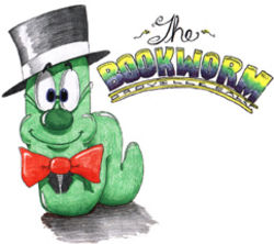 The Bookworm bookstore logo