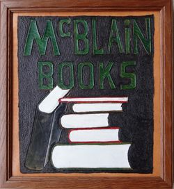 McBlain Books bookstore logo