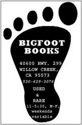 Steven Streufert, Bookseller/Bigfoot Books logo
