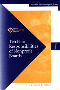 image of Ten Basic Responsibilities of Nonprofit Boards (Ncnb Governance Series Paper ; 1)