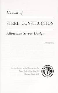 aisc manual of steel construction allowable stress design 9th rh biblio com aisc manual of steel construction 9th edition free download aisc manual of steel construction allowable stress design 9th edition pdf