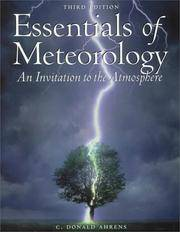 Essentials of Meterology. An Invitation to the Atmosphere. third Edition with CD Rom