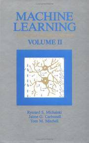 Machine Learning; An Artificial Intelligence Approach Volume II by  Saul et al Amarel - 1986 - from Abracadabra Books 30% Off Sale! and Biblio.com