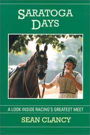 image of SARATOGA DAYS  a Look Inside Racing's Greatest Meet