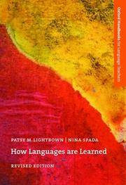 How Languages Are Learned (Oxford Handbooks for Language Teachers Series) by  Nina Spada Patsy M. Lightbown - Paperback - from Wonder Book (SKU: Z06D-00250)