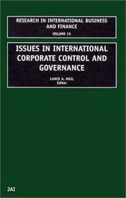 15: Issues in International Corporate Control and Governance (RESEARCH IN INTERNATIONAL BUSINESS...