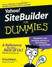 Yahoo Sitebuilder For Dummies