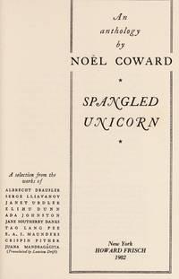 Spangled Unicorn by  Noel Coward - Hardcover - 1982 - from Duttenhofer's Books (SKU: 039272)