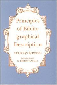 Principles Of Bibliographical Description