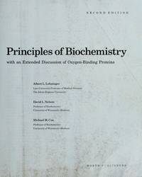 Principles of Biochemistry by Albert L. Lehninger - Hardcover - 1993 - from Anybook Ltd and Biblio.com