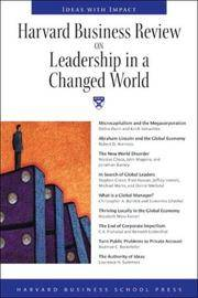 Harvard Business Review on Leadership in a Changed World (Harvard Business Review Paperback Series)