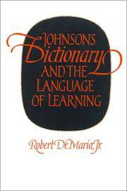 image of Johnson's Dictionary and the Language of Learning