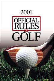 Official Rules of Golf 2000-2001 by  US Golf Asociation - Paperback - 2000 - from Top Notch books (SKU: 322900)