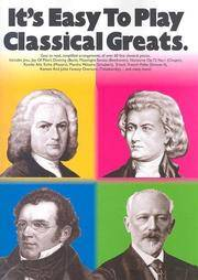 It's Easy To Play Classical Greats (It's Easy to Play S.)