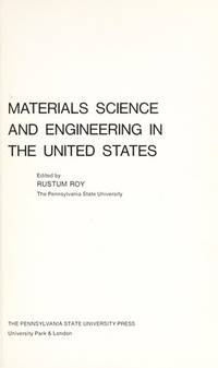 Materials Science and Engineering in the United States