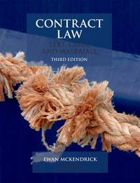 image of Contract Law: Text, Cases, & Materials