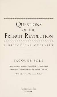 QUESTIONS OF FRENCH REVOLUTION