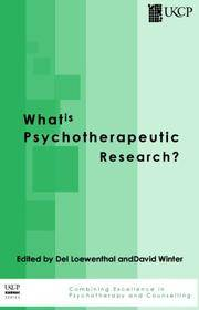 What Is Psychotherapeutic Research? (UKCP Karnac)
