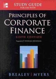 image of PRINCIPLES OF CORPORATE FINANCE: STUDENT STUDY GUIDE