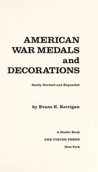 American War Medals: 2 (A Studio book) by Evans E. Kerrigan - Hardcover - 1971-02-24 - from Ergodebooks and Biblio.com