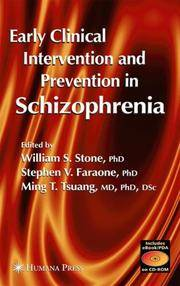 EARLY CLINICAL INTERVENTION AND PREVENTION IN SCHIZOPHRENIA by STONE - Hardcover - U. S. EDITION - from HR ENGINEERS BOOKS and Biblio.com