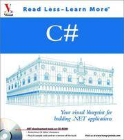 C#: Your Visual Blueprint for Building .Net Applications (With CD-ROM)