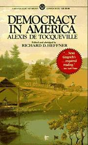 Democracy in America by  Alexis De Tocqueville - Paperback - 21st Printing - 1984 - from Cheryl's Book Nook (SKU: 0012715)