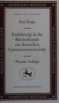 Einfuhrung in die Bucherkunde zur deutschen Literaturwissenschaft (Abt. B,...