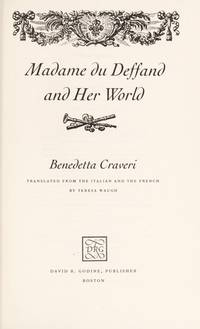 Madame Du Deffand and Her World
