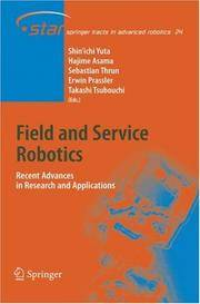 Field And Service Robotics: Recent Advances In Reserch And Applications
