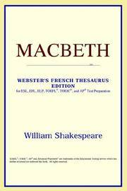 image of Macbeth (Webster's French Thesaurus Edition) (French Edition)