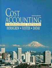 image of Cost Accounting: A Managerial Emphasis